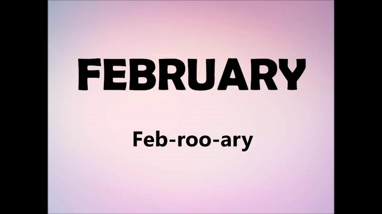 How to pronounce FEBRUARY - YouTube