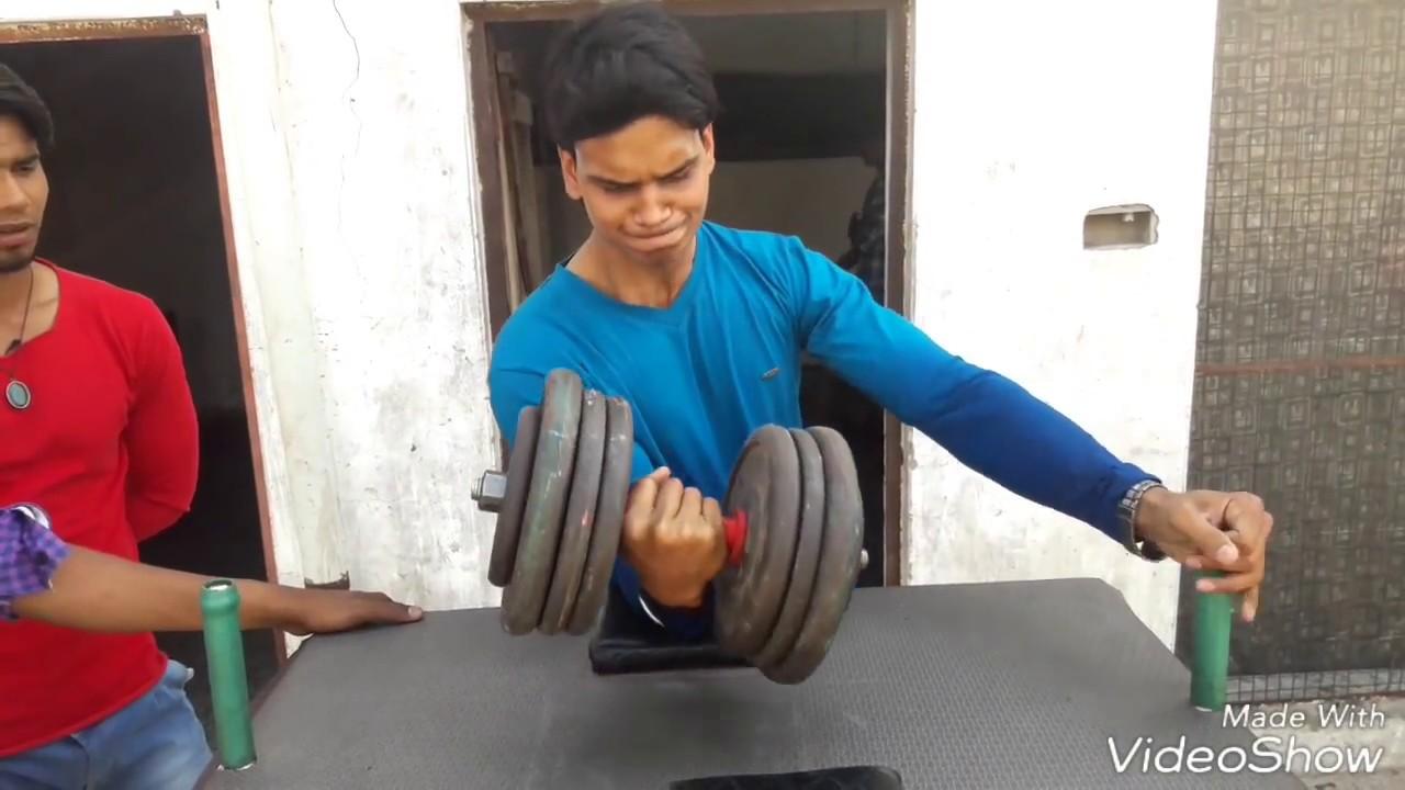 ARM WRESTLING EXERCISE - HOOK TRAINING WITH 36 KG DUMBBELL