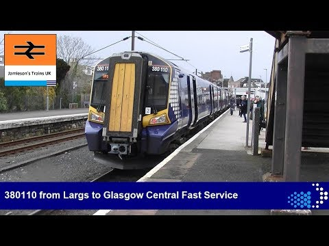 380110 from Largs to Glasgow Central Fast Service