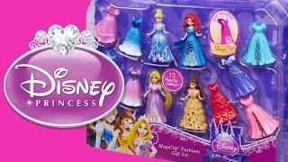 Disney Princess Magiclip Fashions Gift Set - Rapunzel Cinderella Merida Belle