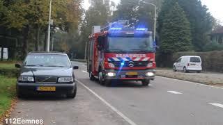 14-1132 brandweer Blaricum met spoed door Laren NH naar vreemde lucht Hilversum