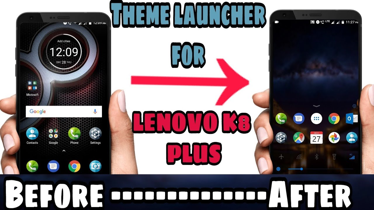Change Theme in lenovo k8 plus or any smartphone