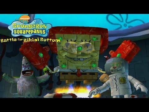 SpongeBob Battle for Bikini Bottom - All Robot Bosses