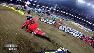 GoPro: Dean Wilson 450 Heat Race Win 2019 Monster Energy Supercross from Indianapolis
