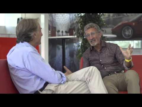 Eddie Jordan interviews Luca di Montezemolo at the 2013 Italian Grand Prix