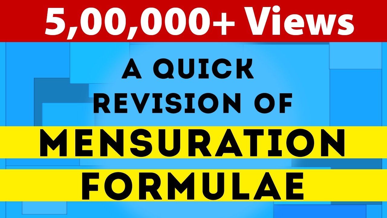 Amazing Tricks To Understand Mensuration Formulas | Geometry | Math | LetsTute - YouTube