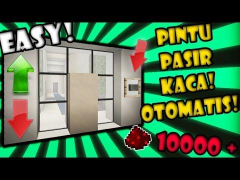 BIKIN Pintu PASIR KACA MODERN OTOMATIS SANGAT MANTAP! - Final FULL REDSTONE Minecraft Indonesia #22