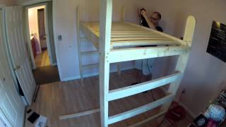 Building My Daughter's Loft Bed - Time Lapse Video