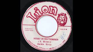 Zackie Hines - Night In September (RARE 70's Roots)