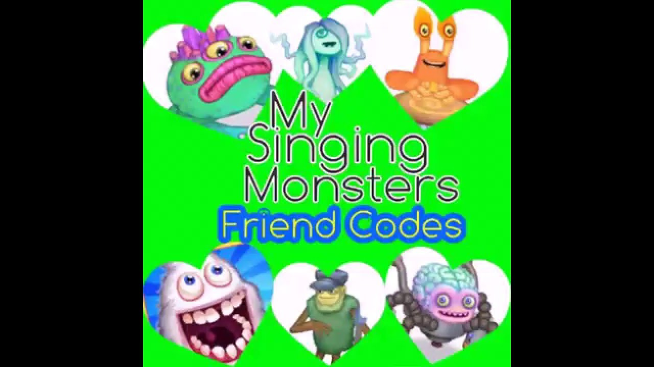 My Singing Monsters Friend Codes #1 2016 - YouTube