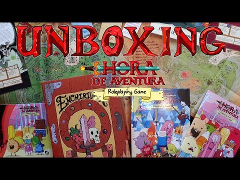Unboxing ● Hora De Aventura RPG - Kit Do Herói