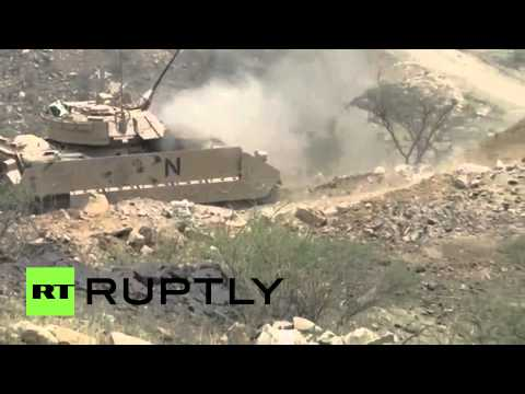 RAW: Saudi tanks under Houthi fire on Yemeni border