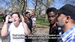 P1 Undangan Iman! Hashim & Wanita Agnostic  Speakers Corner Hyde Park
