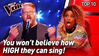 Download lagu TOP 10 | INCREDIBLE High Notes in The Voice