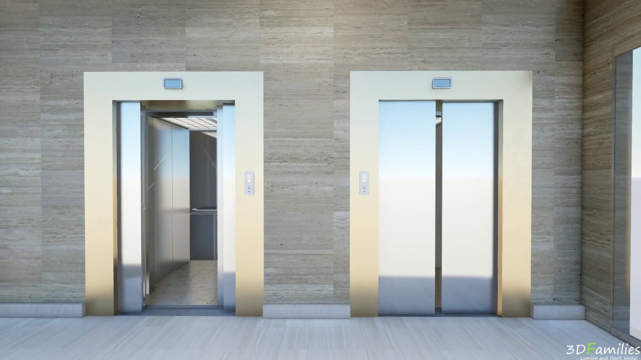 how to set automatic lift door in lumion
