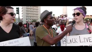 Alton Sterling Protest at Lee Circle in New Orleans