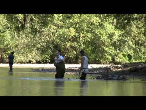Jay & Mike Canoeing down the Puyallup River, 2007