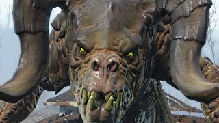 Fallout 4: SCARY DEATHCLAW JUMPSCARE Encounter! (EASTER EGG, VERY HARD)