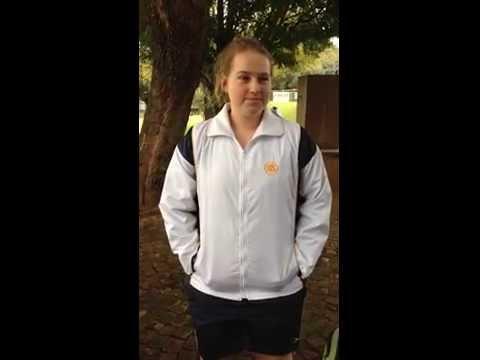 Je'Moné Kirsten, Goalkeeper from C & N Sek. Meisieskool Oranje