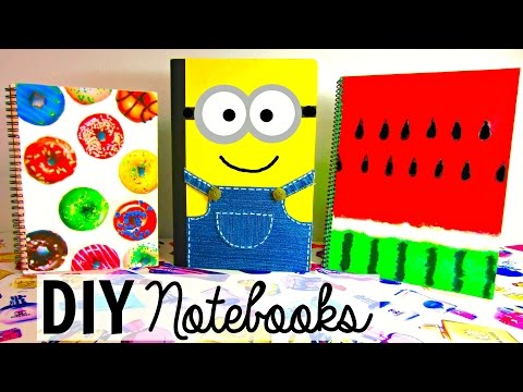 DIY SCHOOL SUPPLIES for Back to School | Easy & Cute NOTEBOOKS