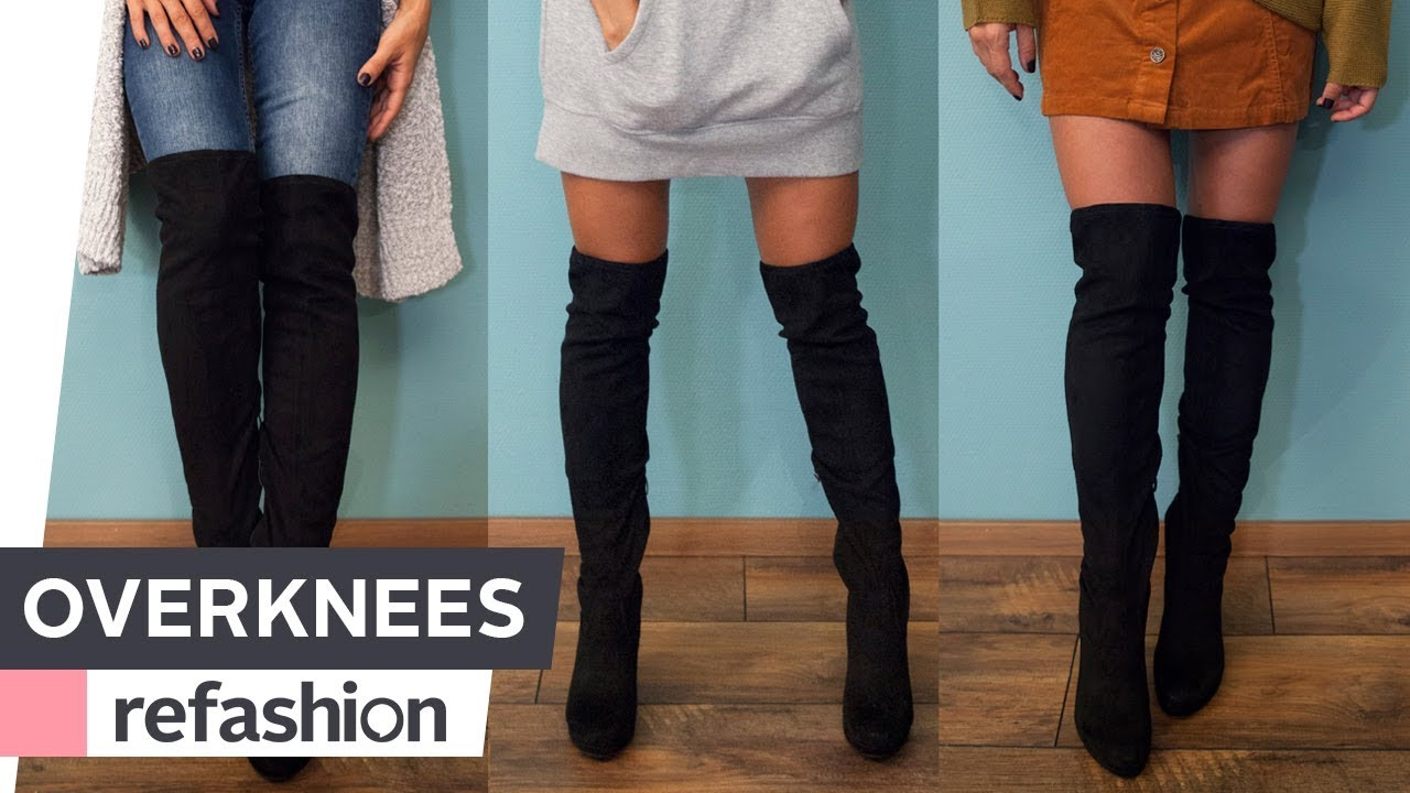 10 Regeln, wie Frauen Overknee Stiefel richtig kombinieren