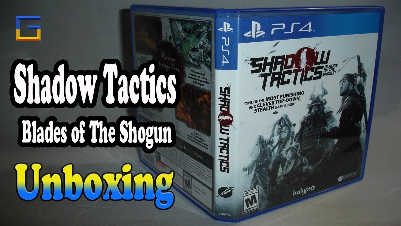 Shadow Tactics: Blades of the Shogun PS4 Unboxing & Overview