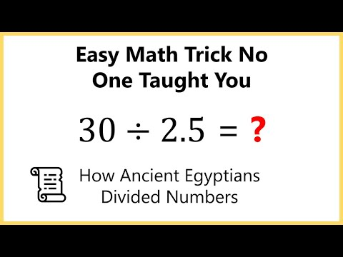 Easy Math Shortcut For Long Division - The Egyptian Method