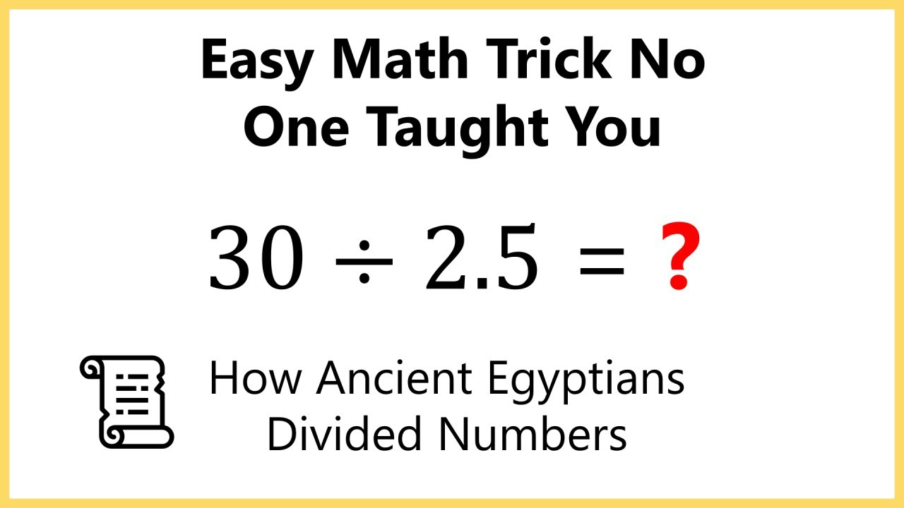 Worksheet How To Do Long Divition easy way to divide without long division ancient egyptian method method