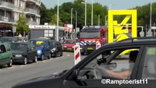 Brandweer SI44-0 OD90-1 TS46-1 HV46-1 en Politie met spoed naar Gaslucht Spinozaweg Rotterdam.