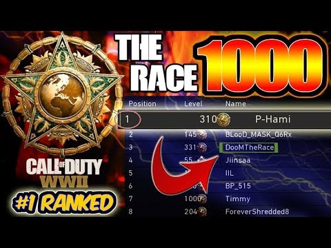 #1 Ranked Player In The World | The Race To Master Prestige Level 1000 | COD : WWII (LEVEL 510)