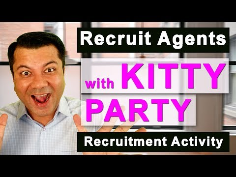 Recruit FEMALE Agents with Kitty Party Recruitment Activity. [ HINDI ]