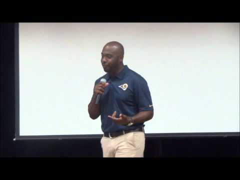 Former Rams Player Marshall Faulk Presents a $15,000 Grant Check to Rockwood South Middle School