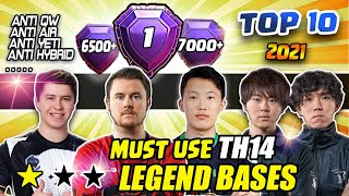 Must Use TOP 10 Best Th14 Legend Base / Anti 2 Star / Town Hall 14 CWL War Base / Clash of clans