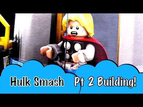 Pt 2 LEGO Marvel Superheroes Avengers Hulk Lab Smash Building Toy Hulk Thor Taskmaster MODOK Falcon