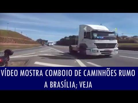 Vídeo Mostra Comboio De Caminhões Rumo A Brasília Para Protesto Contra Dilma