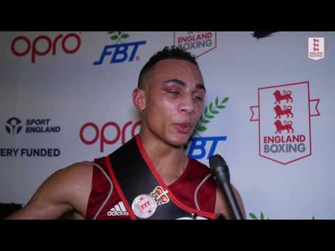 Post-match interview with Ben Whittaker. England Boxing Elite Championships 2017