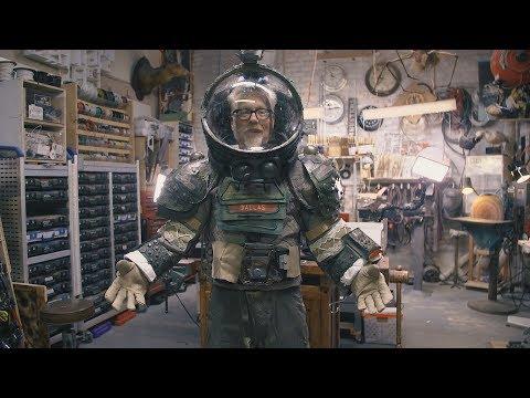 Inside Adam Savage's Cave: High School Alien Play Spacesuit!