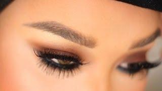 brown smokey eye tutorial with top and bottom lashes   patrickstarrr