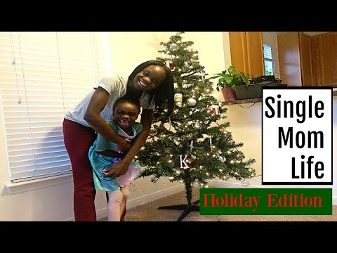 Newly Single Mom: A Day in the Life | Decorating the Xmas Tree!