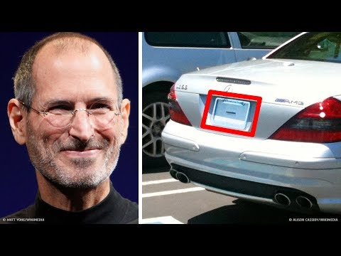 Why Steve Jobs Didn't Have a License Plate