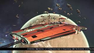 No Man's Sky NEXT (Permadeath) - building my freighter fleet command room - RP LP 76