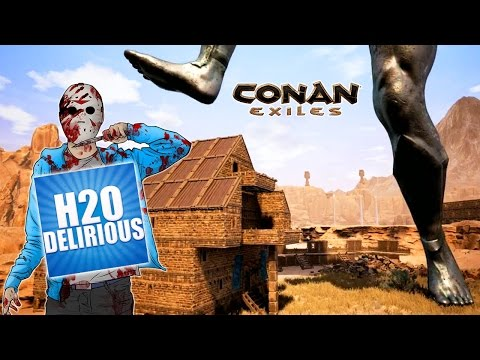 Raiding H2O Delirious..... AGAIN!  -  Conan Exiles - ft. max