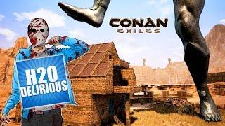 Raiding H2O Delirious..... AGAIN!  -  Conan Exiles - ft. maxmoefoegames