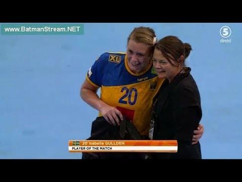 Sweden - Norway first half women handball Germany 2017