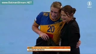 Sweden - Norway first half women handball Germany 2017