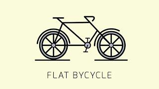 Adobe illustrator | New Tutorial - Flat Design ( BICYCLE )