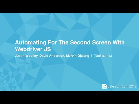 Automating For The Second Screen With Webdriver JS