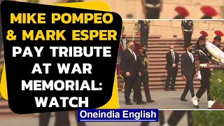 India-US 2+2: US Secretary of State & Defence pay tribute at National War Memorial in Delhi