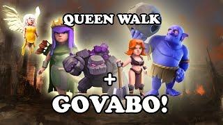 Golem Valk Bowler Healer GOVABOHE - With Queen Walk - Clash of Clans -2stars farming strategy