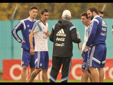 Mirá el entrenamiento de la Selección Argentina